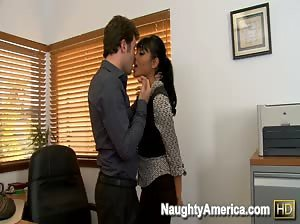 Priya Anjali Rai fucks her co-worker at the office