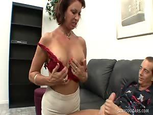 Vanessa Gobbles Cock Like A Caged Animal