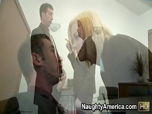 Camryn Cross rides her lawyer`s big cock