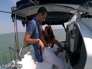 Christina Bella and Evan Rochelle doing Baywatch anal