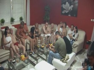 Real Czech amateurs at this enormous swingers party - 17