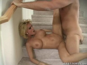 Beautiful blonde with a killer body fucked hard
