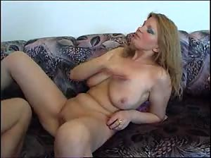 MILF with big natural juggs fucked in various positions